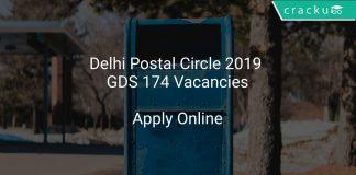 Delhi Postal Circle 2019 GDS 174 Vacancies