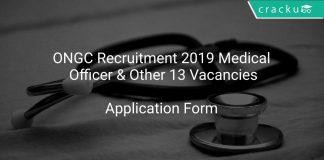 ONGC Recruitment 2019 Medical Officer & Other 13 Vacancies