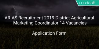 ARIAS Recruitment 2019 District Agricultural Marketing Coordinator 14 Vacancies