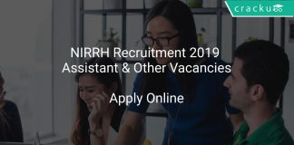 NIRRH Recruitment 2019 Assistant & Other Vacancies