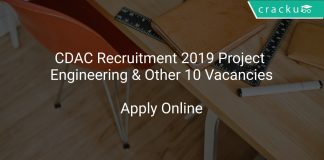 CDAC Recruitment 2019 Project Engineering & Other 10 Vacancies