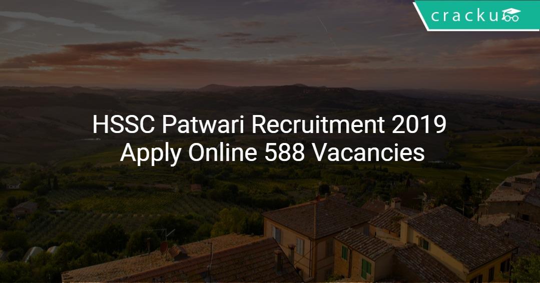 Image result for HSSC JOBS RECRUITMENT 2019 - APPLY FOR 588 PATWARI JOBS ONLINE