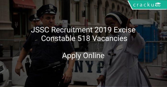 JSSC Recruitment 2019 Excise Constable 518 Vacancies