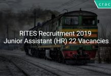 RITES Recruitment 2019 Junior Assistant (HR) 22 Vacancies