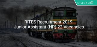 RITES Recruitment 2019 Junior Assistant (HR) 22 Vacancies
