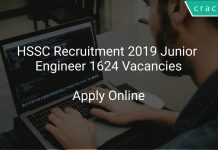 HSSC Recruitment 2019 Junior Engineer 1624 Vacancies