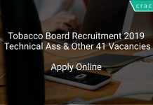Tobacco Board Recruitment 2019 Technical Assistant & Other 41 Vacancies