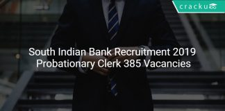 South Indian Bank Recruitment 2019 Probationary Clerk 385 Vacancies