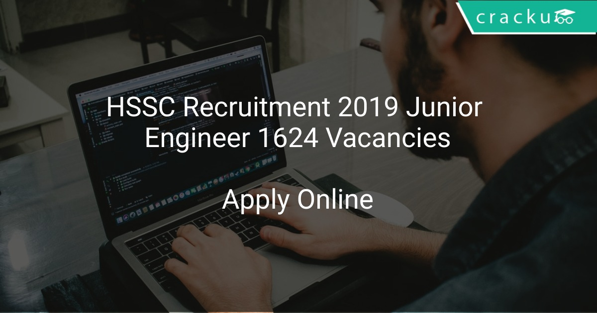 Image result for HSSC JOBS RECRUITMENT 2019 - APPLY FOR 1624 JUNIOR ENGINEER VACANCIES DETAILS