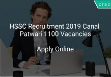 HSSC Recruitment 2019 Canal Patwari 1100 Vacancies
