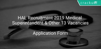 HAL Recruitment 2019 Medical Superintendent & Other 13 Vacancies
