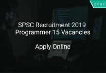 SPSC Recruitment 2019 Programmer 15 Vacancies