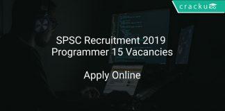 SPSC Recruitment 2019 Programmer 15 Vacancies