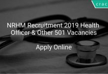 NRHM Recruitment 2019 Health Officer & Other 501 Vacancies