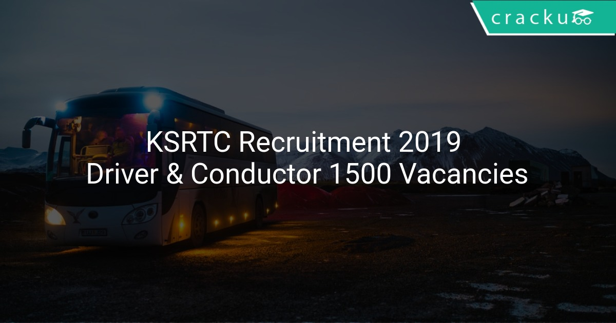 Image result for KSRTC 1500 DRIVER VACANCY RECRUITMENT 2019 - APPLY HERE