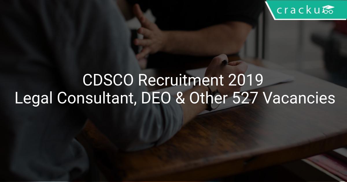 Image result for CDSCO 527 VACANCIES OF DEO NOTIFICATION 2019