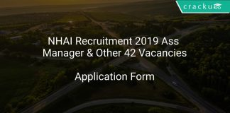 NHAI Recruitment 2019 Ass Manager & Other 42 Vacancies