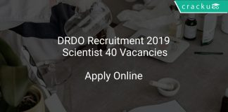 DRDO Recruitment 2019 Scientist 40 Vacancies