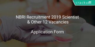 NBRI Recruitment 2019 Scientist & Other 12 Vacancies