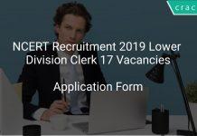 NCERT Recruitment 2019 Lower Division Clerk 17 Vacancies