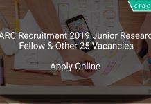 BARC Recruitment 2019 Junior Research Fellow & Other 25 Vacancies