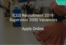 ICDS Recruitment 2019 Supervisor 2000 Vacancies
