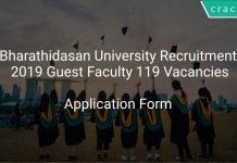 Bharathidasan University Recruitment 2019 Guest Faculty 119 Vacancies