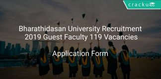 Bharathidasan University Recruitment 2019 Guest Faculty 119 Vacancies