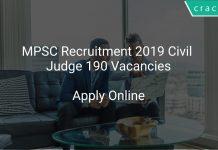 MPSC Recruitment 2019 Civil Judge 190 Vacancies