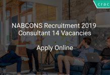 NABCONS Recruitment 2019 Consultant 14 Vacancies