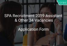 SPA Recruitment 2019 Assistant & Other 34 Vacancies