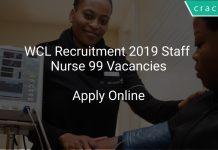 WCL Recruitment 2019 Staff Nurse 99 Vacancies