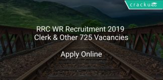 RRC WR Recruitment 2019 Clerk & Other 725 Vacancies