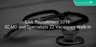 SAIL Recruitment 2019 GDMO and Specialists 22 Vacancies Walk-In