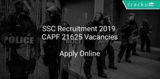 SSC Recruitment 2019 CAPF 21625 Vacancies