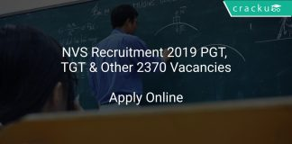NVS Recruitment 2019 PGT, TGT & Other 2370 Vacancies