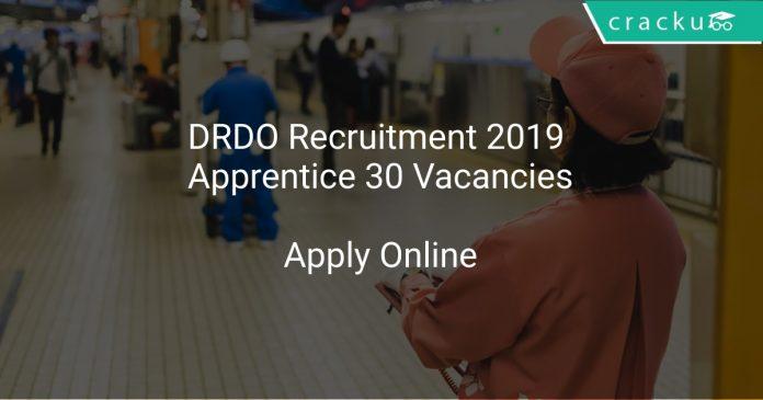 DRDO Recruitment 2019 Apprentice 30 Vacancies
