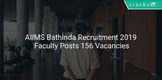 AIIMS Bathinda Recruitment 2019 Faculty Posts 156 Vacancies