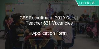 Chhattisgarh Recruitment 2019 Guest Teacher 631 Vacancies