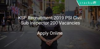 KSP Recruitment 2019 PSI Civil Sub Inspector 200 Vacancies