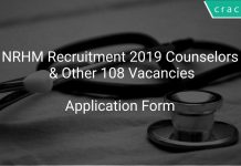 NRHM Recruitment 2019 Counselors & Other 108