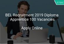 BEL Recruitment 2019 Diploma Apprentice 100 Vacancies