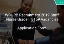 WBHRB Recruitment 2019 Staff Nurse Grade ll 8159 Vacancies
