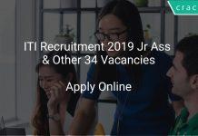ITI Recruitment 2019 Jr Assistant & Other 34 Vacancies