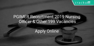 PGIMER Recruitment 2019 Nursing Officer & Other 199 Vacancies