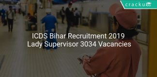 ICDS Bihar Recruitment 2019 Lady Supervisor 3034 Vacancies