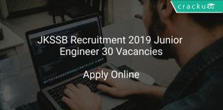 JKSSB Recruitment 2019 Junior Engineer 30 Vacancies