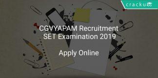 CGVYAPAM Recruitment SET Examination 2019
