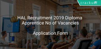 HAL Recruitment 2019 Diploma Apprentice No of Vacancies