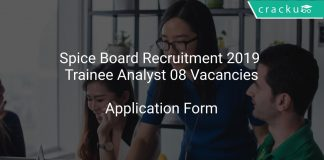 Spice Board Recruitment 2019 Trainee Analyst 08 Vacancies